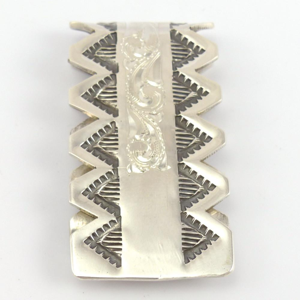 Stamped Silver Money Clip, Leonard Nez, Jewelry, Garland's Indian Jewelry