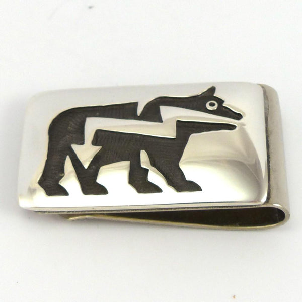 Silver Overlay Money Clip, Anderson Koinva, Jewelry, Garland's Indian Jewelry