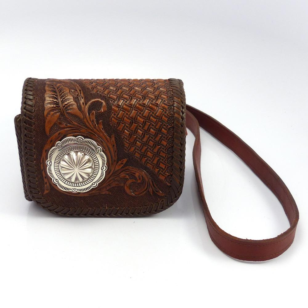 Brown Leather Handbag, Jennifer Curtis and Ray Skeets, More, Garland's Indian Jewelry