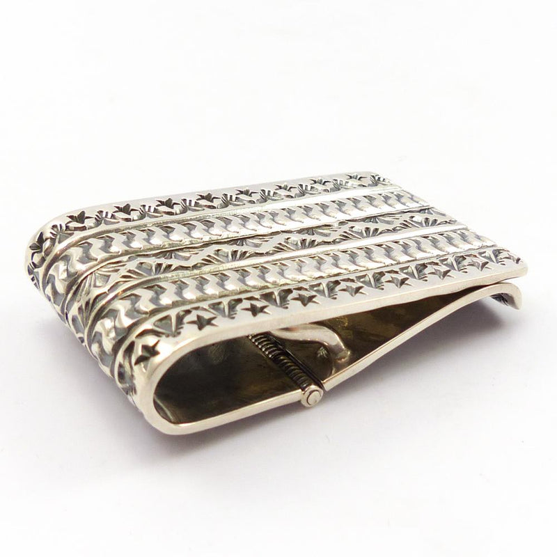 Stamped Silver Money Clip