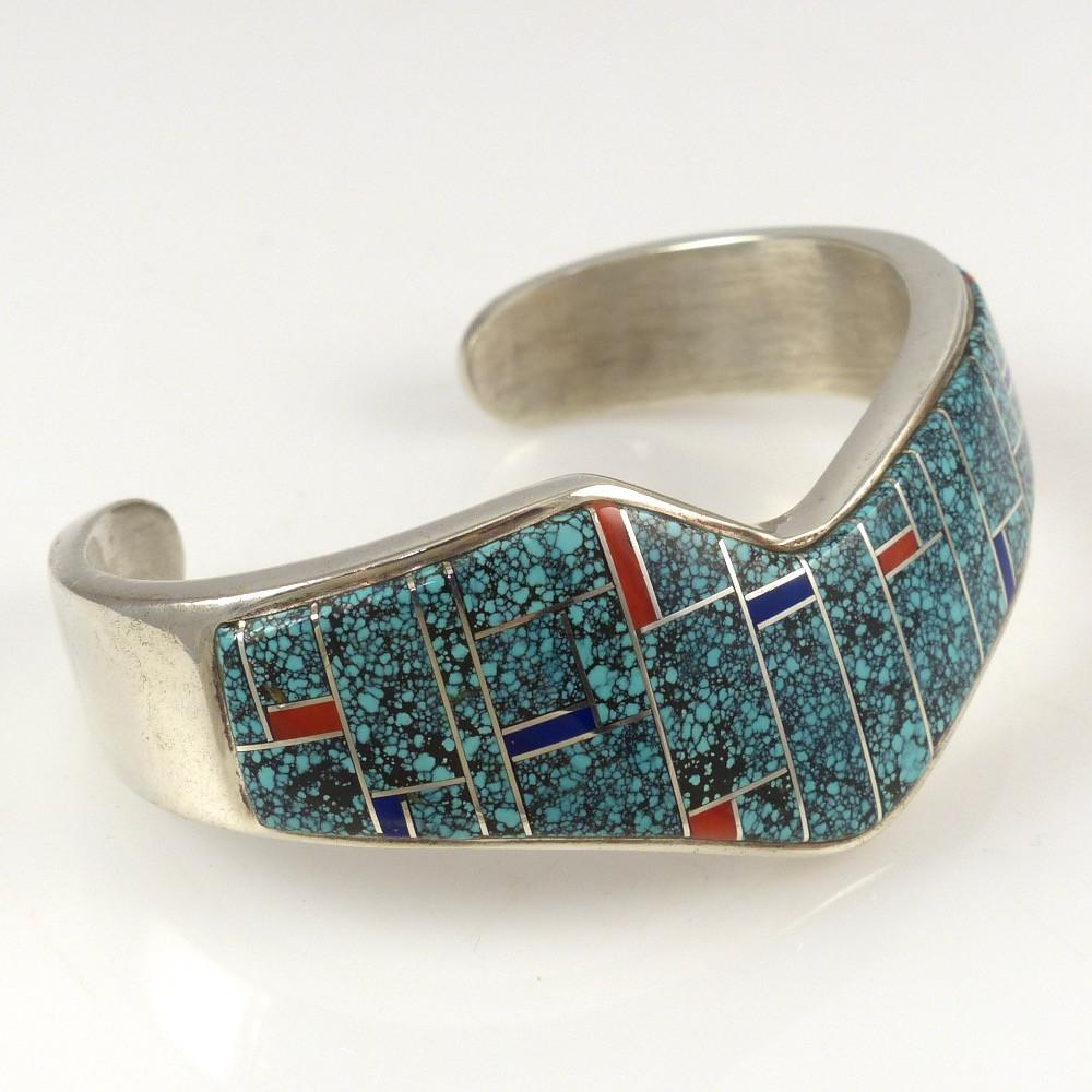 1980s Channel Inlay Cuff - Jewelry - Rose Long - 1