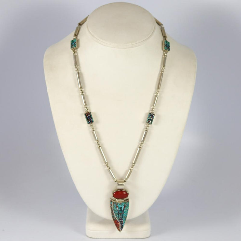 Micro-Inlay Yei Necklace