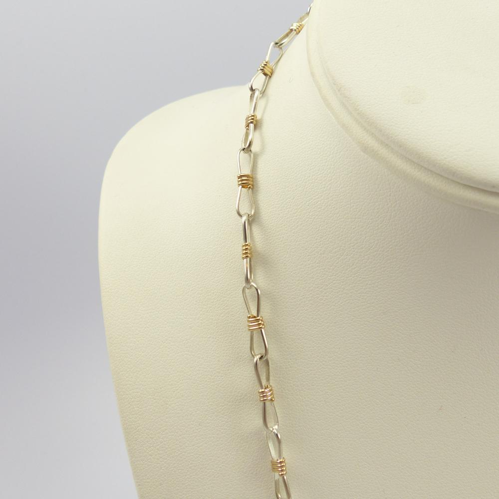 Gold and Silver Link Necklace