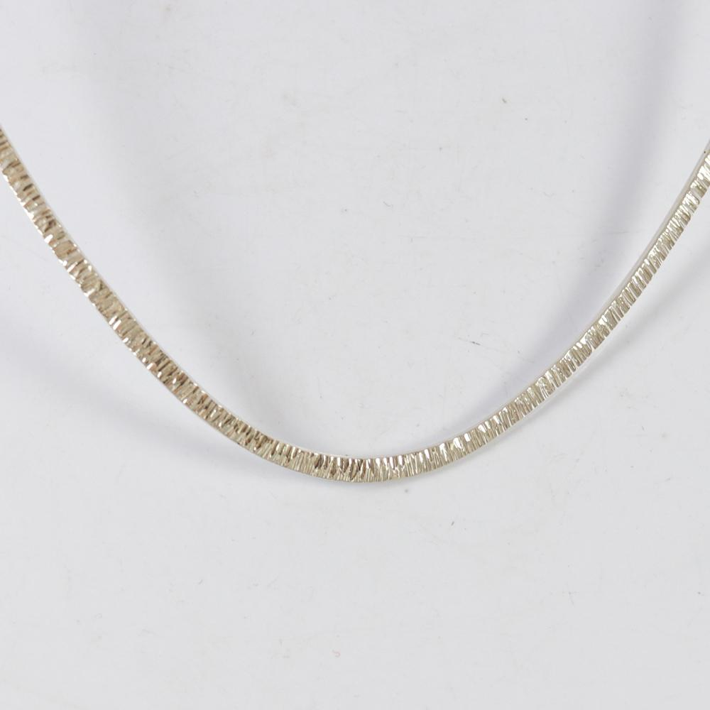 Hammered Silver Collar