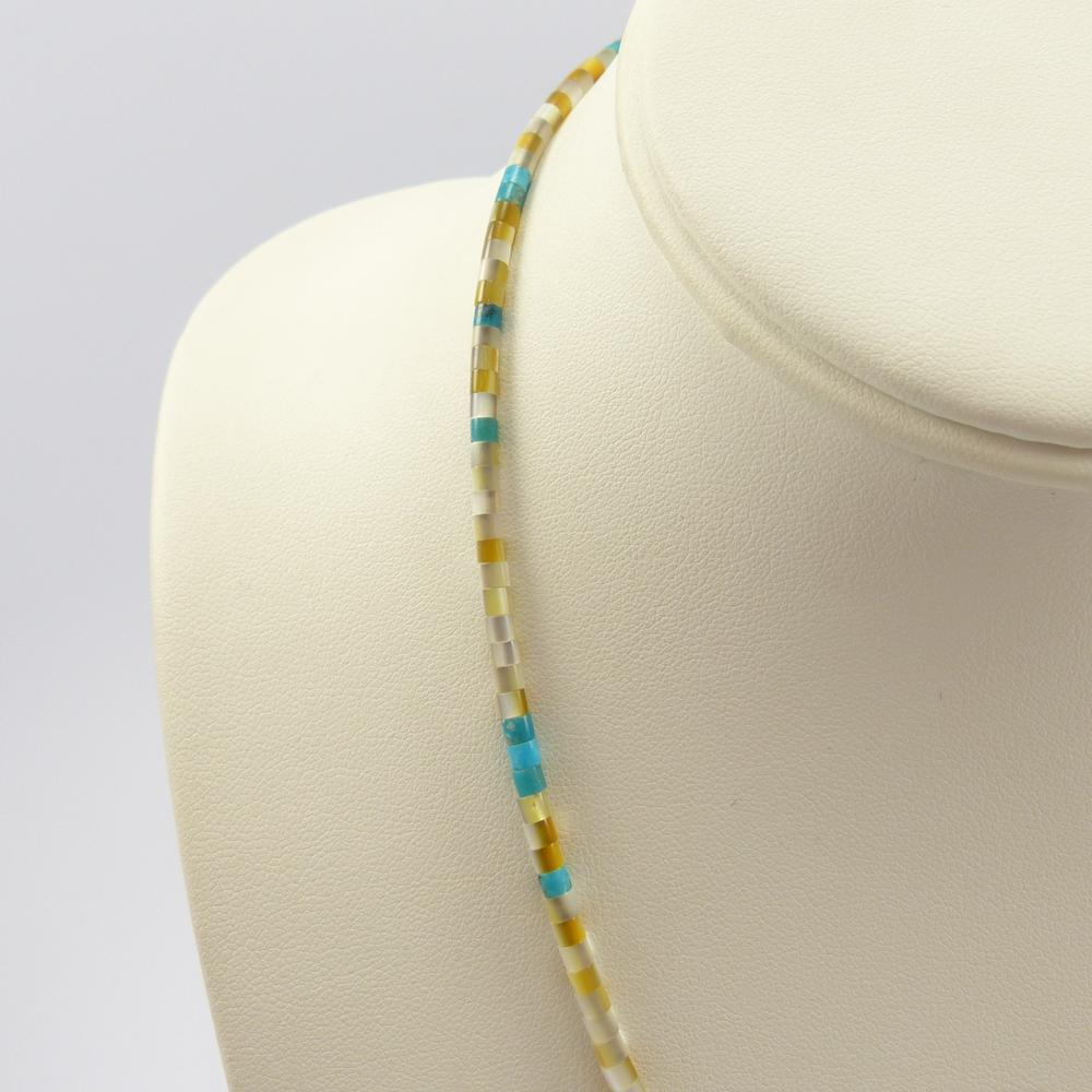 Turquoise and Shell Bead Necklace