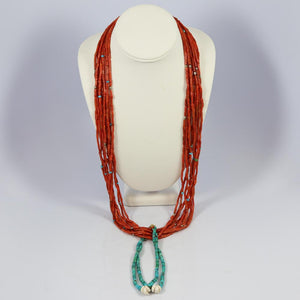 Vintage Coral Jacla Necklace