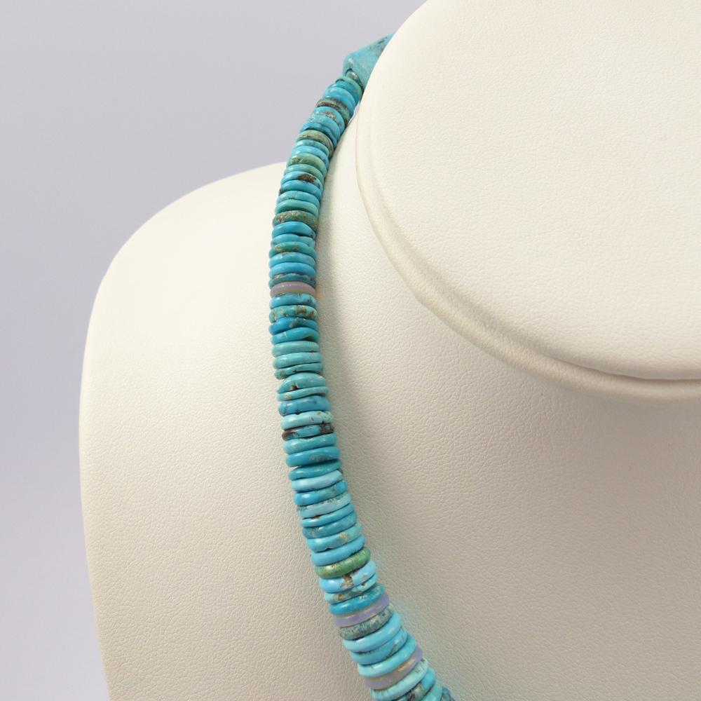 Turquoise and Opal Bead Necklace