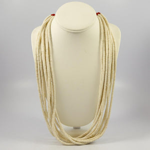 Melon Shell Heishi Necklace