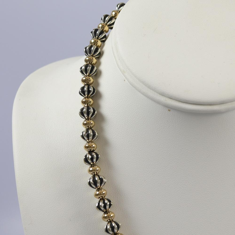 Silver and Gold Bead Necklace