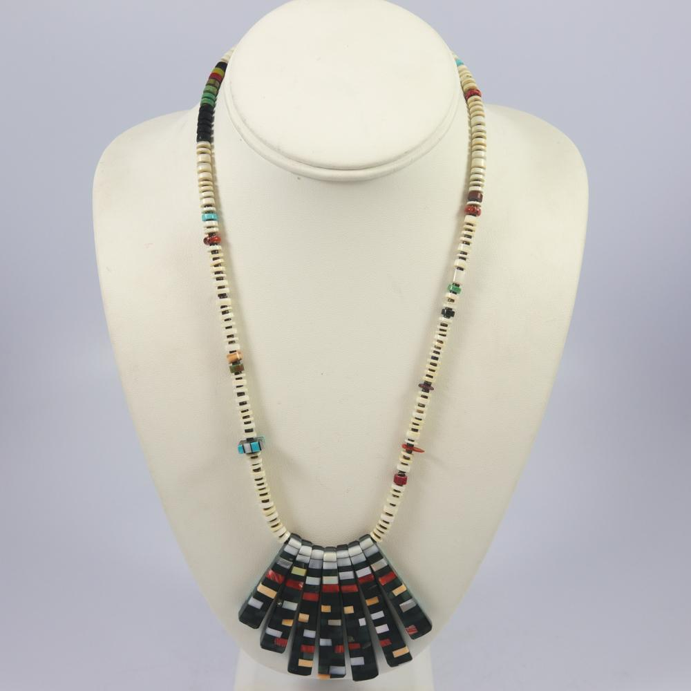 Reversible Inlay Necklace