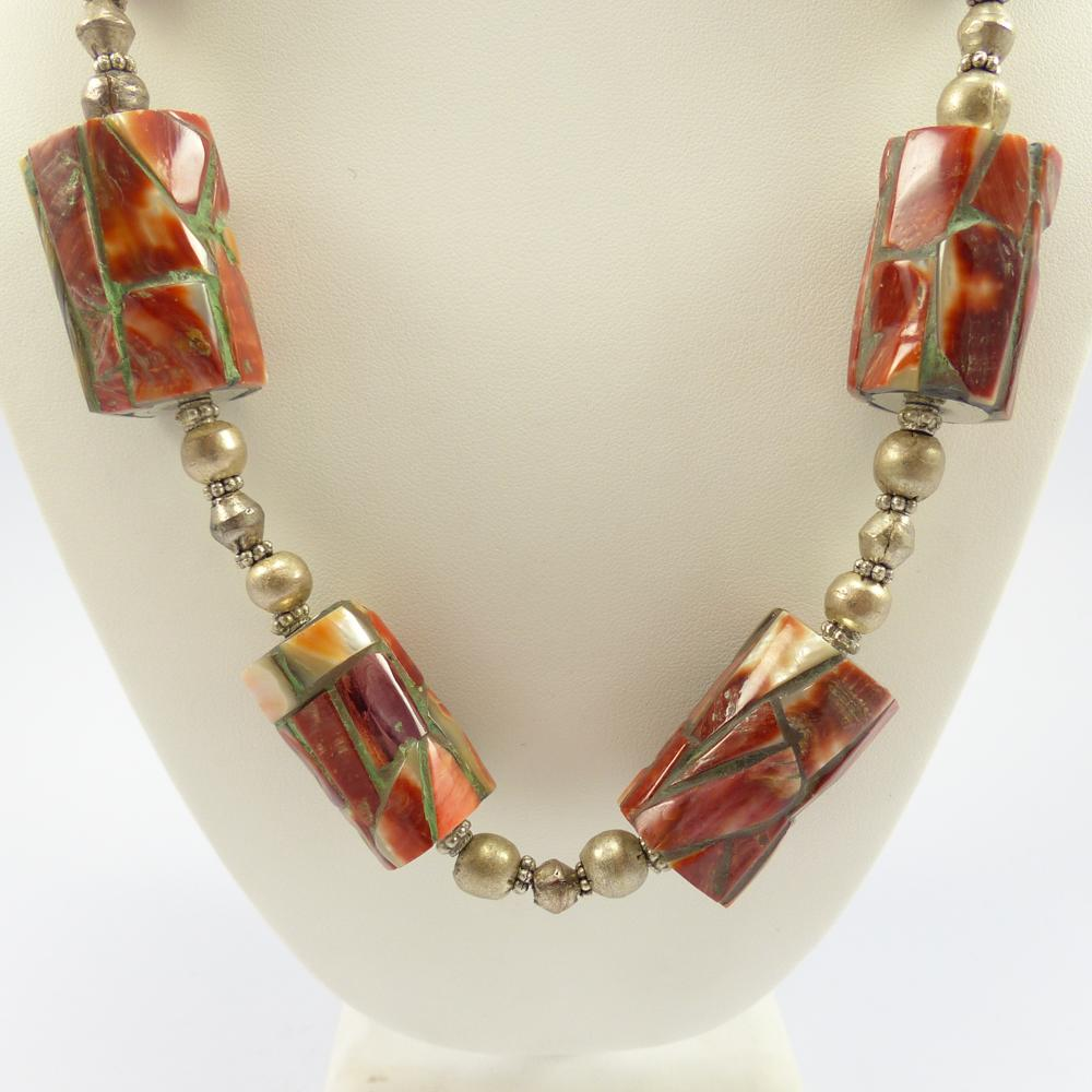 Inlay Bead Necklace