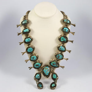 Kingman Squash Blossom Necklace