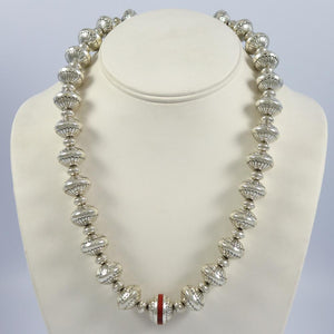 Inlaid Navajo Pearl Necklace