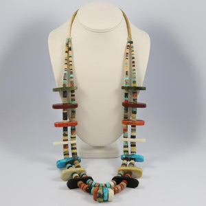 Multi-stone Tab Necklace
