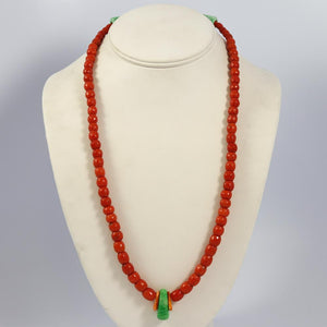 Coral and Variscite Necklace