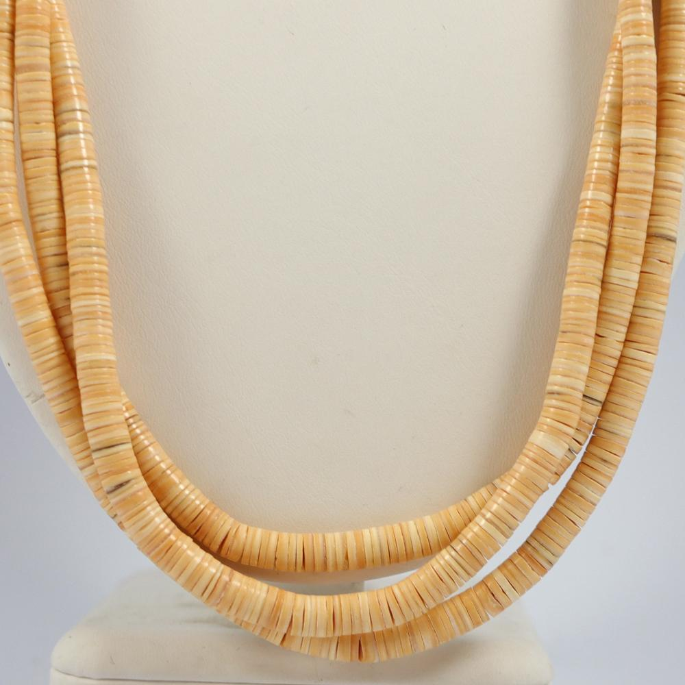 Melon Shell Bead Necklace