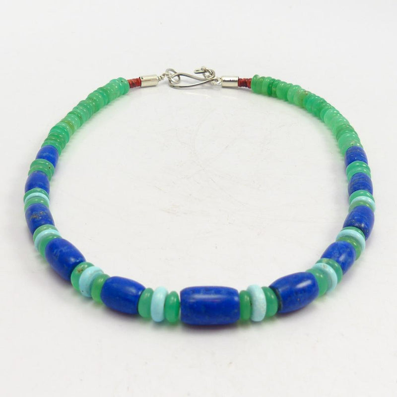 Lapis and Chrysoprase Necklace