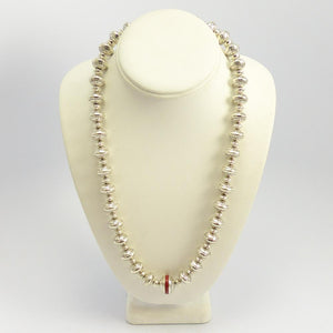 Coral Navajo Pearl Necklace