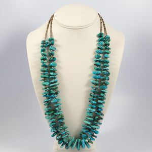 1970s Turquoise Chunk Necklace