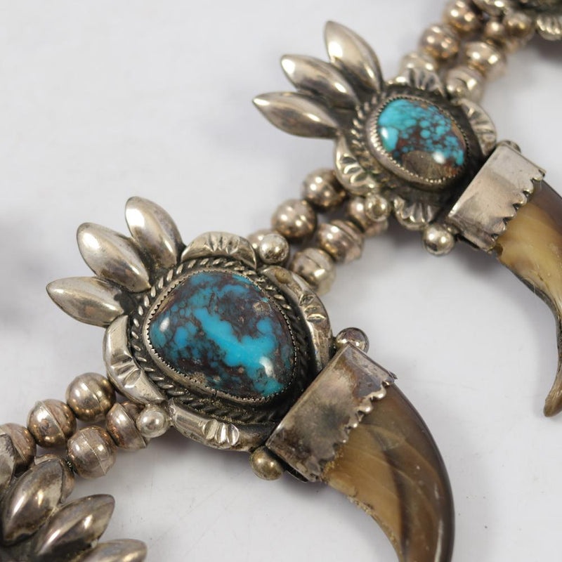 1960s Bisbee Turquoise Squash Blossom