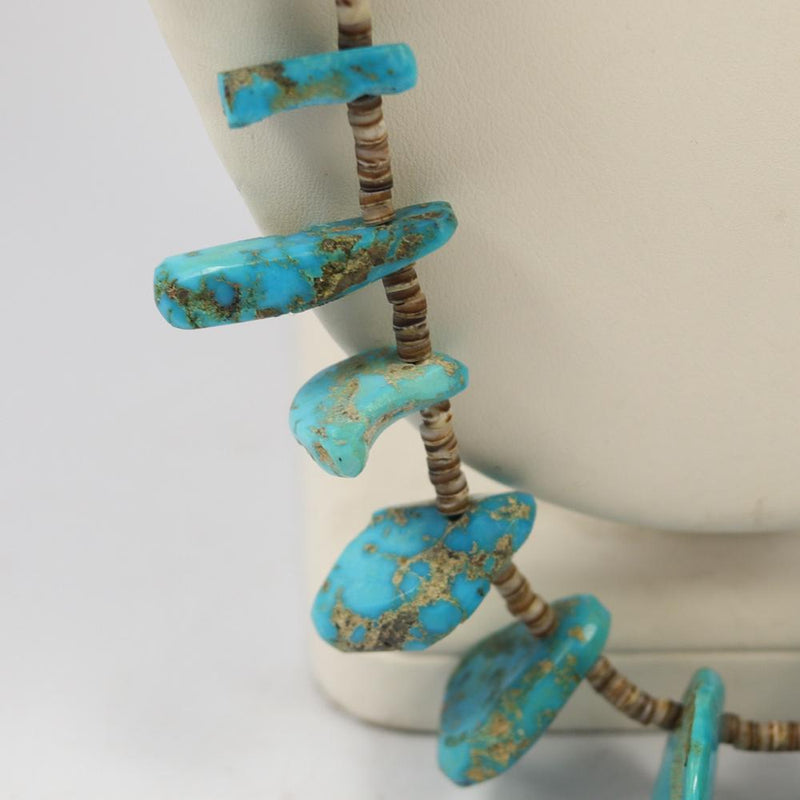 1960s Castle Dome Turquoise Necklace
