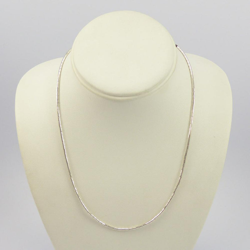 Silver Heishi Necklace