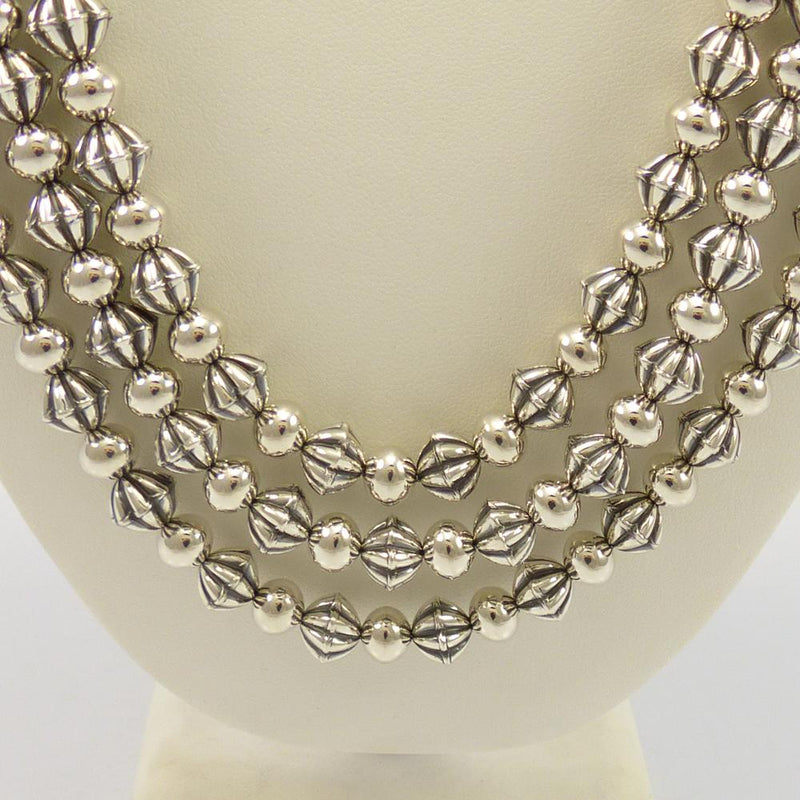 Fluted Bead Necklace