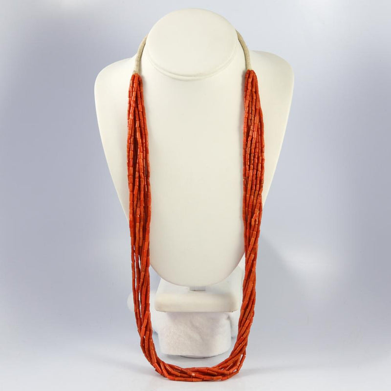 1960s Coral Bead Necklace