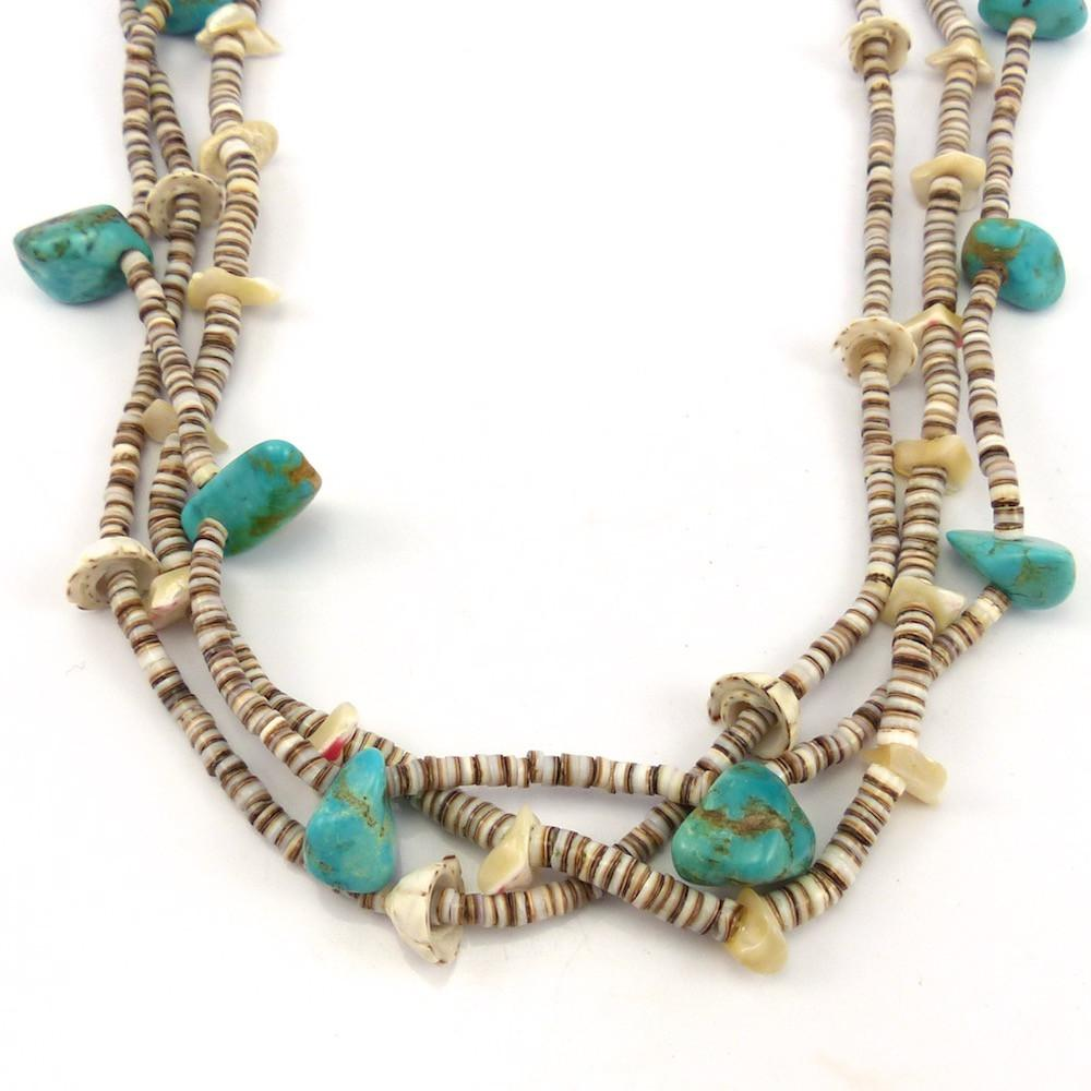 turquoise click frank san heishi malachite and ortiz felipe full expand item to necklace