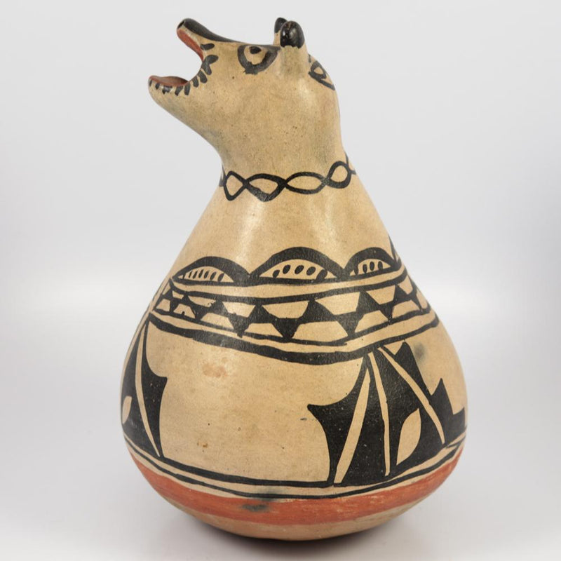 1890s Cochiti Dog Effigy Pot