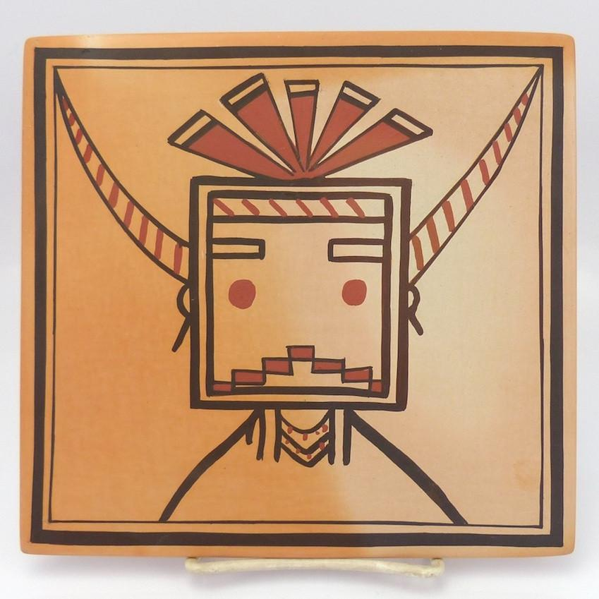 Hopi Pottery Tile - Pottery - Fawn Navasie - 1