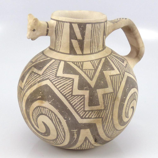 Deer Pottery Pitcher, Michael Kanteena, Pottery, Garland's Indian Jewelry