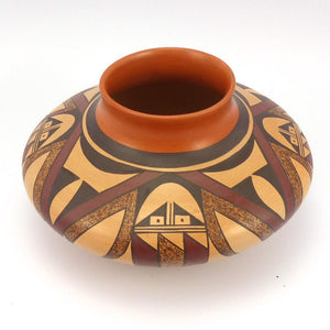 Hopi Eagle Feather Jar, Charles Navasie, Pottery, Garland's Indian Jewelry