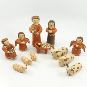 Pottery Nativity Set