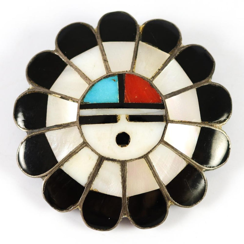 1970s Sunface Pin and Pendant