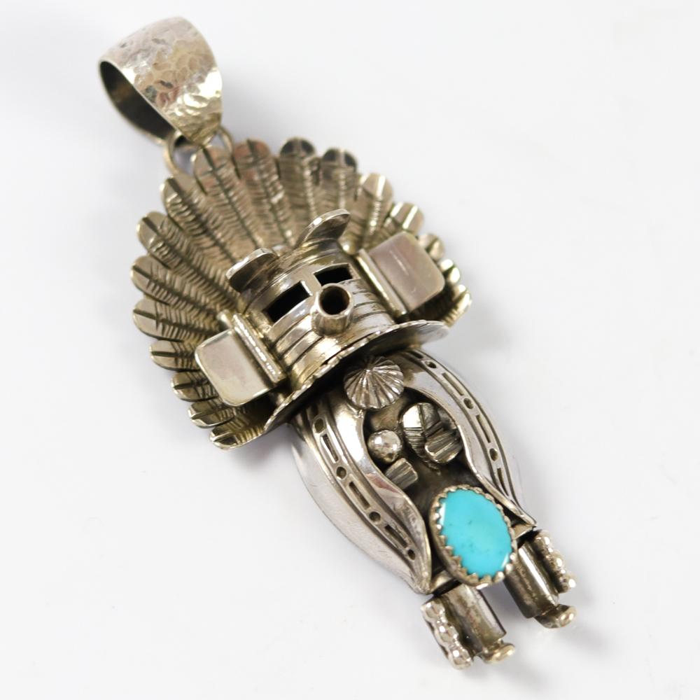 Turquoise Morning Kachina Pendant
