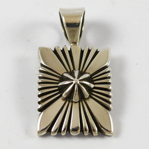 Filed Silver Pendant