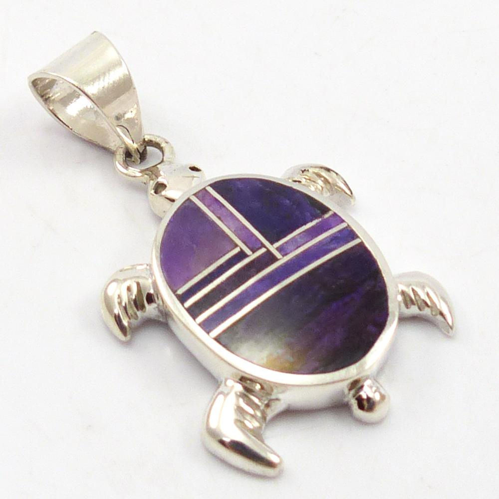 Inlaid Turtle Pendant