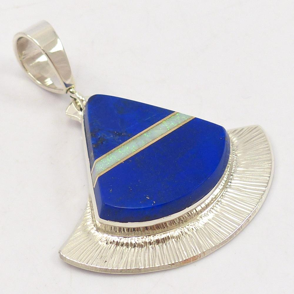 Lapis and Opal Pendant