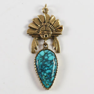 Lone Mountain Turquoise Pendant