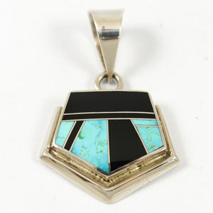 1990s Multi-stone Inlay Pendant