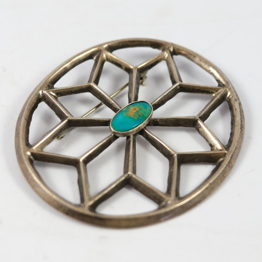 1940s Turquoise Pin