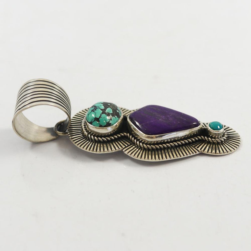 Turquoise and Sugilite Pendant