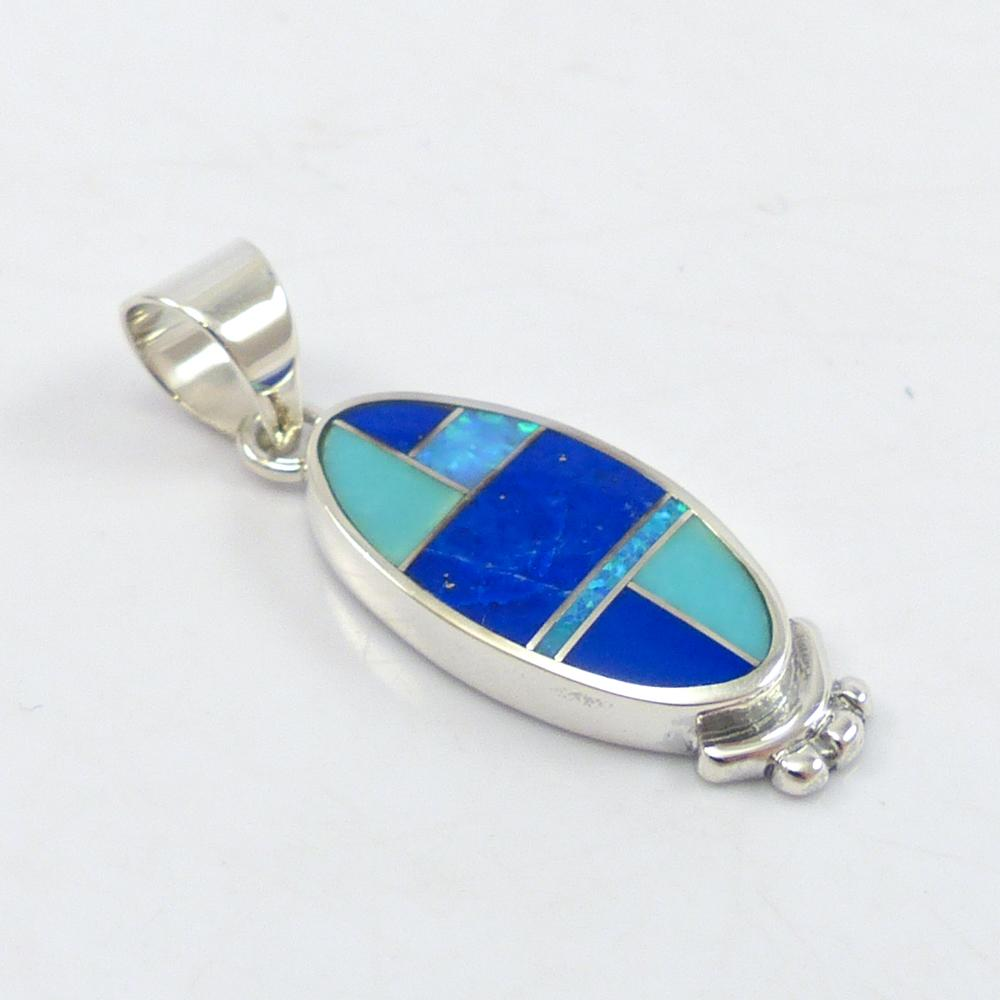 Multi-stone Inlay Pendant
