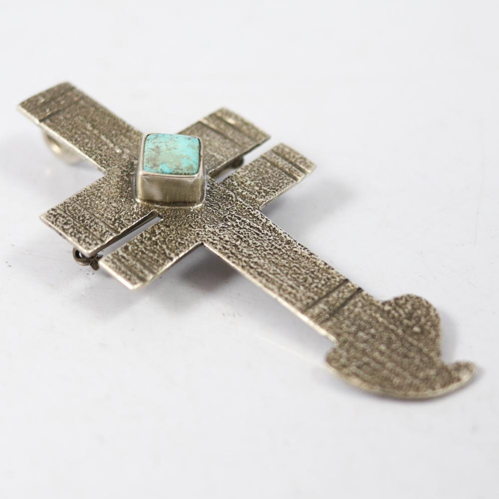 Kingman Turquoise Pin and Pendant