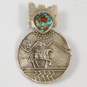 Royston Turquoise Pin and Pendant