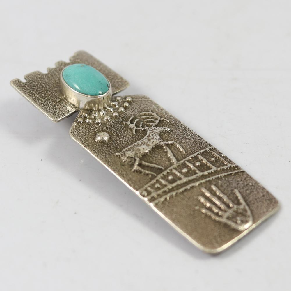 Sleeping Beauty Turquoise Pin and Pendant