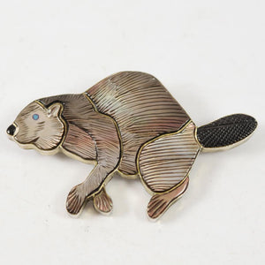 1960s Beaver Pin and Pendant