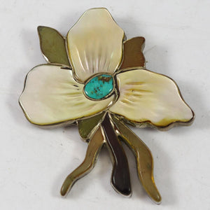 1960s Flower Pin and Pendant