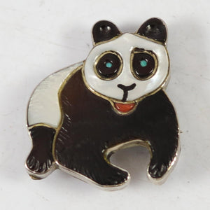 1960s Panda Pin and Pendant